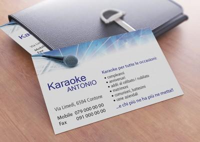 Biglietto da Visita Karaoke Antonio