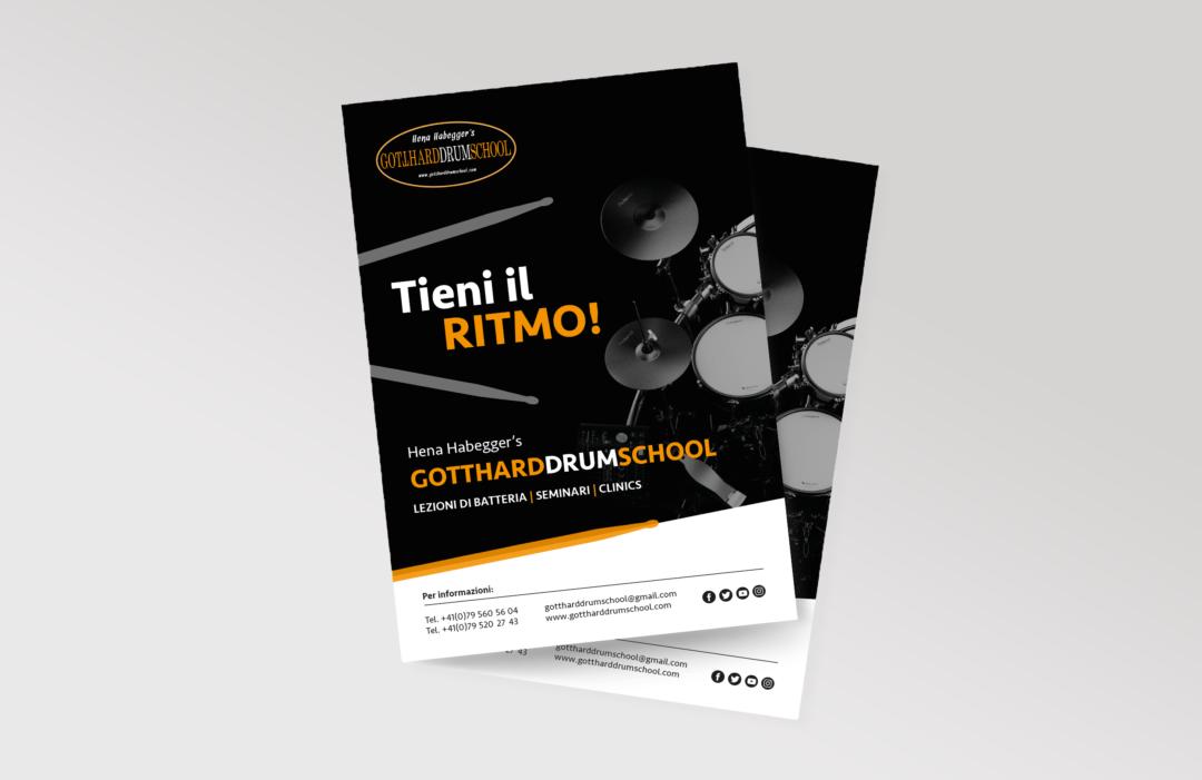 Locandina Gotthard Drum School