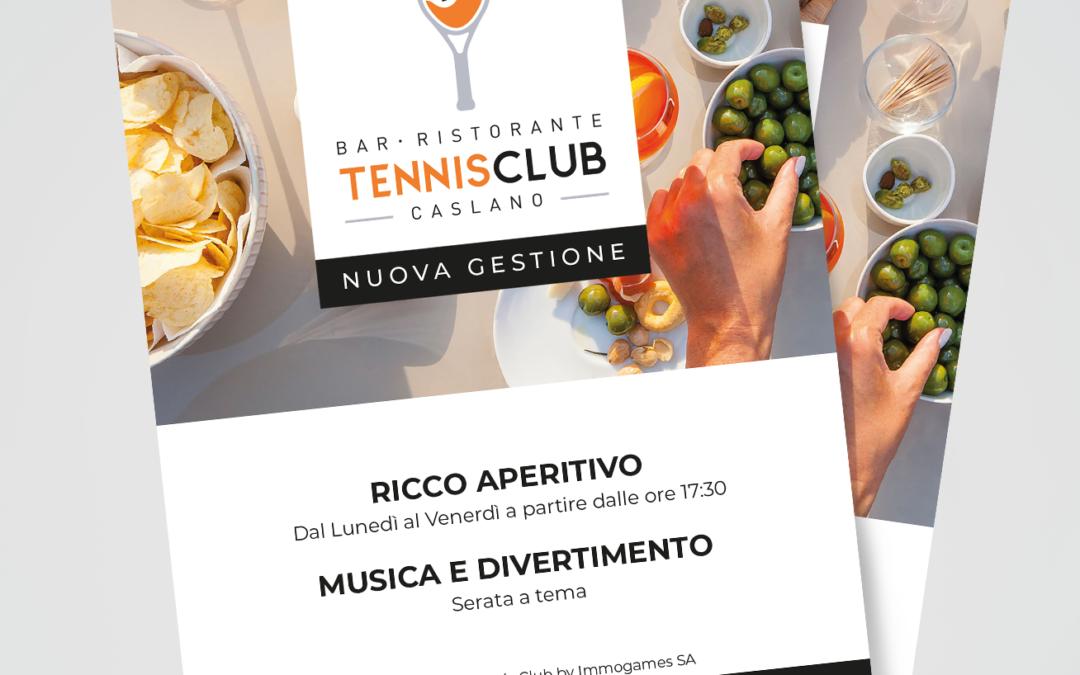 Volantino Bar Ristorante Tennis Club Caslano